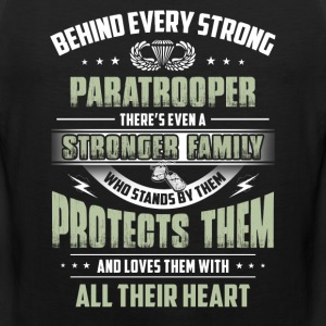 Behind Every Strong Paratrooper - Men's Premium Tank