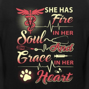 Vet Tech She Has Fire - Men's Premium Tank