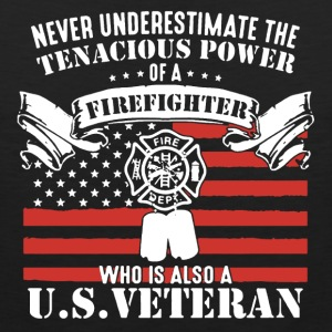 Firefighter And US Veteran Shirt - Men's Premium Tank