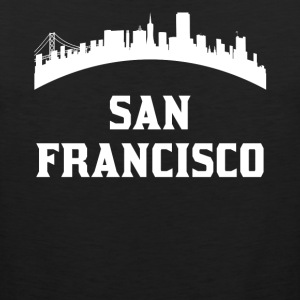 Vintage Style Skyline Of San Francisco CA - Men's Premium Tank