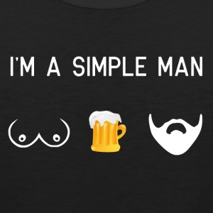 i am a simple man - tits beer beard male movember - Men's Premium Tank
