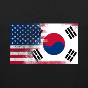 Korean American Half South Korea Half America Flag - Men's Premium Tank