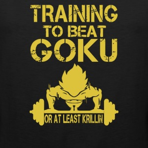 Training Insaiyan Gym To Beat Goku or Killing - Men's Premium Tank