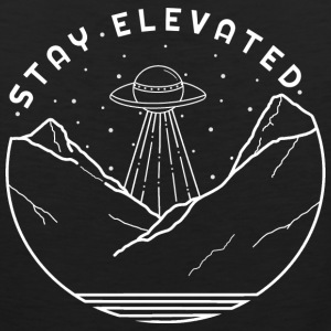 Aliens Stay Elevated (White) - Men's Premium Tank
