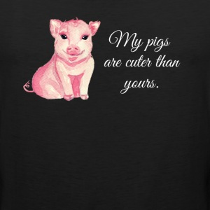 My Pigs Are Cuter Than Yours Funny Farm T-Shirt - Men's Premium Tank