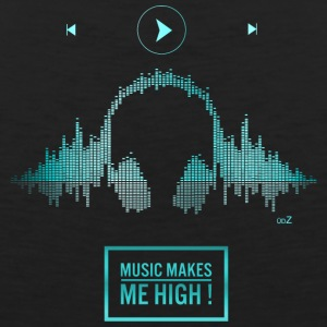 Music makes me high blue - Men's Premium Tank