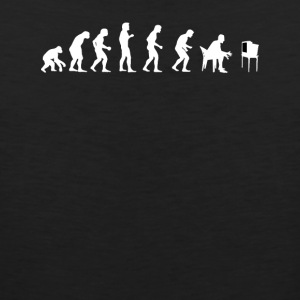 Human Evolution Watching Television - Men's Premium Tank