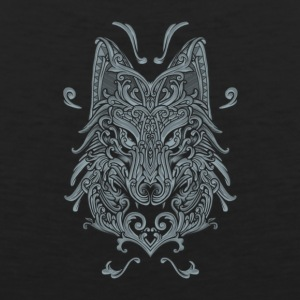 Wolf, Wolf Art, Wolf Drawing - Men's Premium Tank