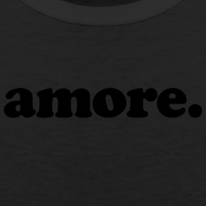 Amore - Fun Design (Black Letters) - Men's Premium Tank