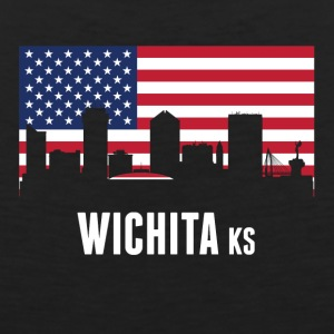American Flag Wichita Skyline - Men's Premium Tank