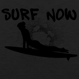 surfer_girl_3_black - Men's Premium Tank