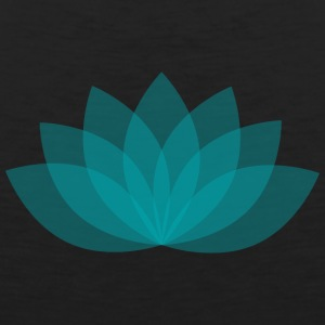 Turquoise lotus flower - Men's Premium Tank