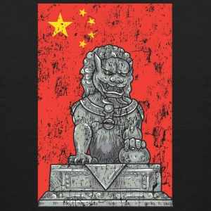 chinese flag and statue - Men's Premium Tank