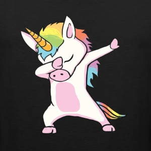 Unicorn cute dabbing T-Shirt Funny Dab Dance Gift - Men's Premium Tank