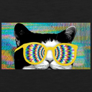 hipster glasses kitty - Men's Premium Tank
