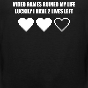 VIDEO GAMES RUINED MY LIFE - Men's Premium Tank