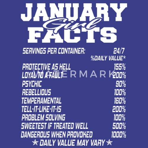 JANUARY Born Girl Funny Birthmonth Fact Quotes By TrendzShack Enchanting Tank Girl Quotes