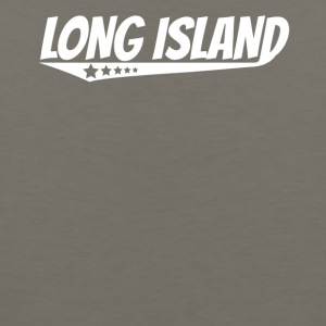 Long Island Retro Comic Book Style Logo - Men's Premium Tank