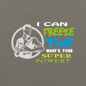 I can freeze time, Superpower T-shirt design - Men's Premium Tank
