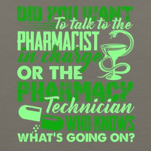 Pharmacy Technician Tee Shirt - Men's Premium Tank