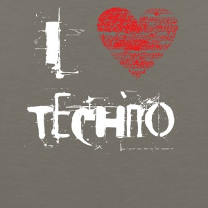 I love techno rave goa hardtek hard - Men's Premium Tank