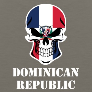 Dominican Flag Skull Dominican Republic - Men's Premium Tank