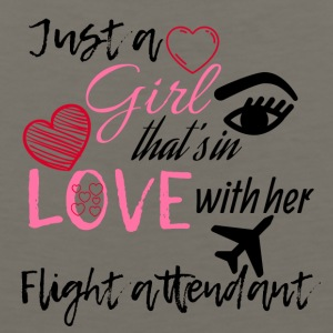 A girl that's in love with her flight attendant - Men's Premium Tank