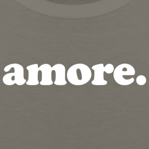 Amore - Fun Design (White Letters) - Men's Premium Tank