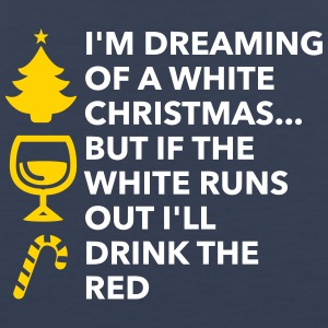 I'm Dreaming Of A White Christmas And A Red Wine - Men's Premium Tank
