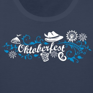 Oktoberfest decoration with traditional elements - Men's Premium Tank