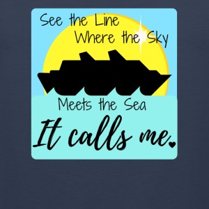 See the Line Where the Sky Meets The Sea.... - Men's Premium Tank
