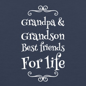 Grandpa and grandson best friends for life - Men's Premium Tank