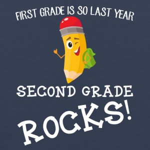 first grade is so last year, second grade Rocks! - Men's Premium Tank