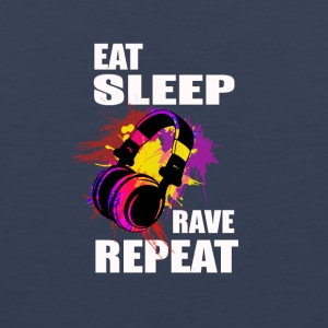 Eat Sleep Rave Repeat Electronic Music - Men's Premium Tank