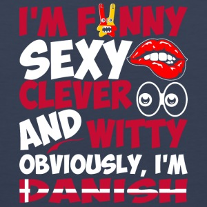 Im Funny Sexy Clever And Witty Im Danish - Men's Premium Tank