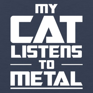 My Cat listens to metal - Men's Premium Tank