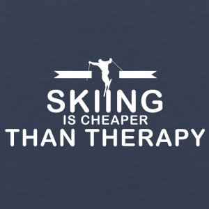 Skiing is cheaper than therapy - Men's Premium Tank
