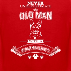 Never Underestimat an old Man With agerman Shephep - Men's Premium Tank
