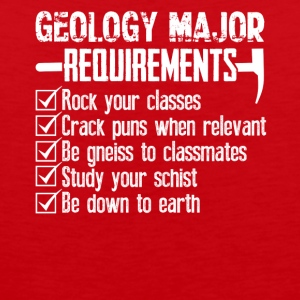 Geology Major Requirements Checklist Funny Shirt - Men's Premium Tank