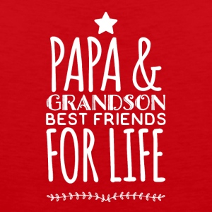 Papa and grandson best friends for life - Men's Premium Tank