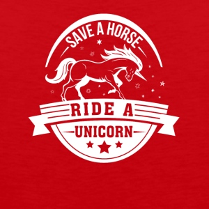 Save Horse Ride Unicorn Unicorn Horse - Men's Premium Tank