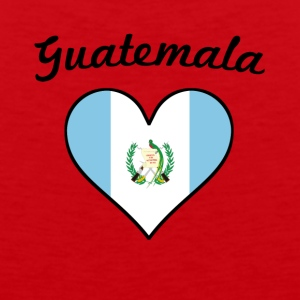 Guatemala Flag Heart - Men's Premium Tank