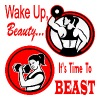 Wake Up Beauty It's Time To BEAST - Women's Premium Tank Top