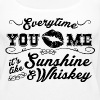 Sunshine and Whiskey - Women's Premium Tank Top