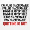 Crawling Is Acceptable  - Women's Premium Tank Top