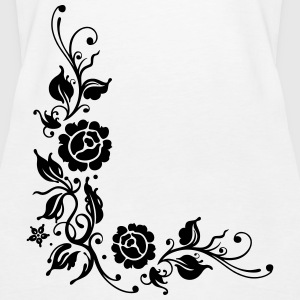 Roses with filigree ornament and leaves - Women's Premium Tank Top