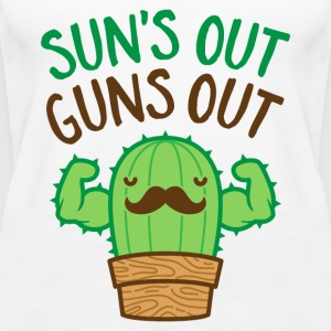 Sun's Out Guns Out Macho Cactus - Women's Premium Tank Top