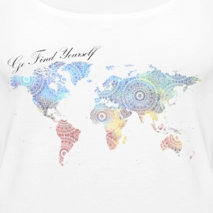 World Map as a Mandala - Go find yourself - Women's Premium Tank Top