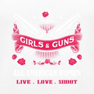 Girls & guns All American women live love shoot - Women's Premium Tank Top