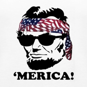 Funny Abe Lincoln 'Merica Shirt - Women's Premium Tank Top